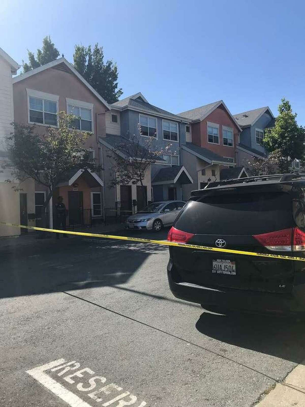 San Francisco police taped off the 1400 block of Treat Avenue, near the intersection of Cesar Chavez Street, after a shootout on Thursday, June 7, 2018.