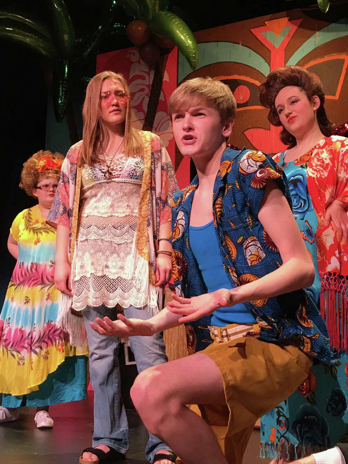 """A scene from the Pantochino Teen Theatre production of """"Go Go Beach."""""""