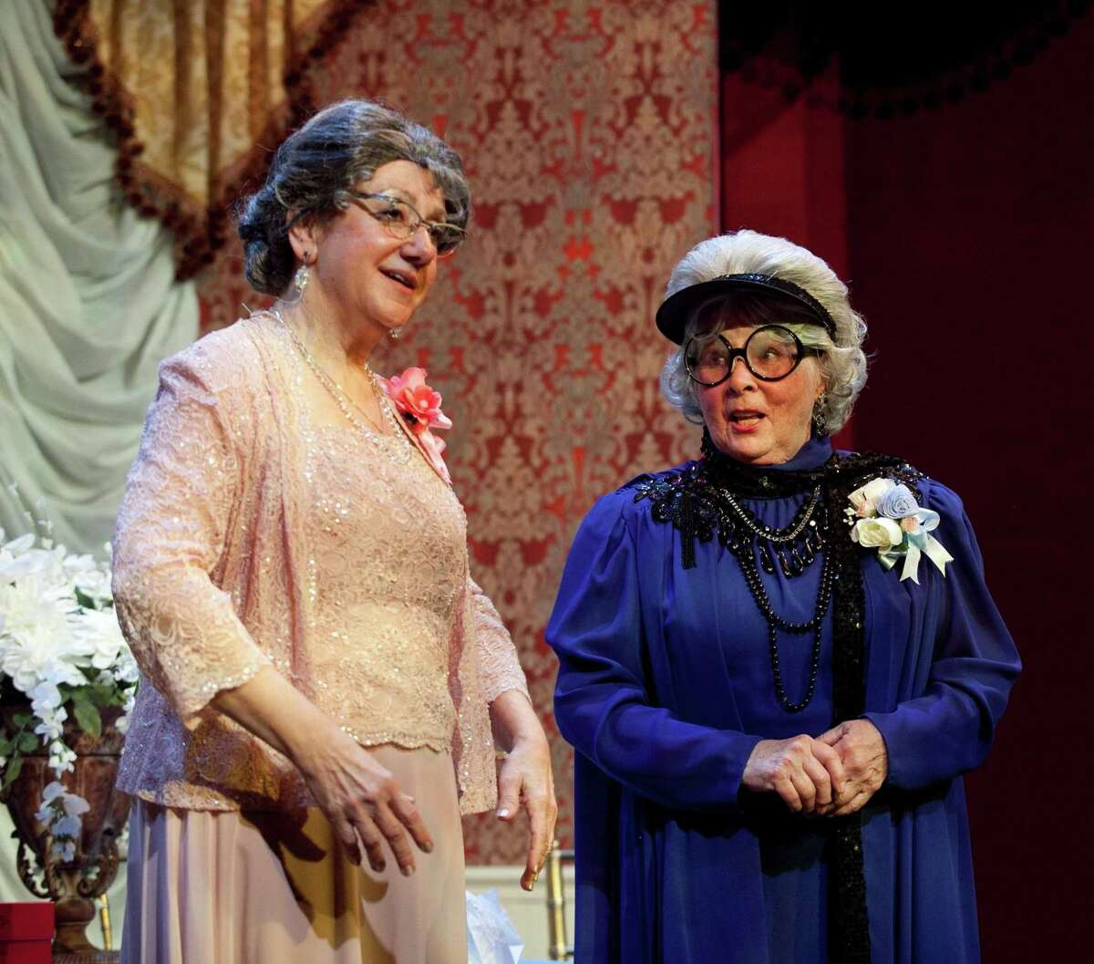 """Raeleen Mautner and Pat Covino in the recent Pantochino production of """"Italian Wedding Soup."""""""