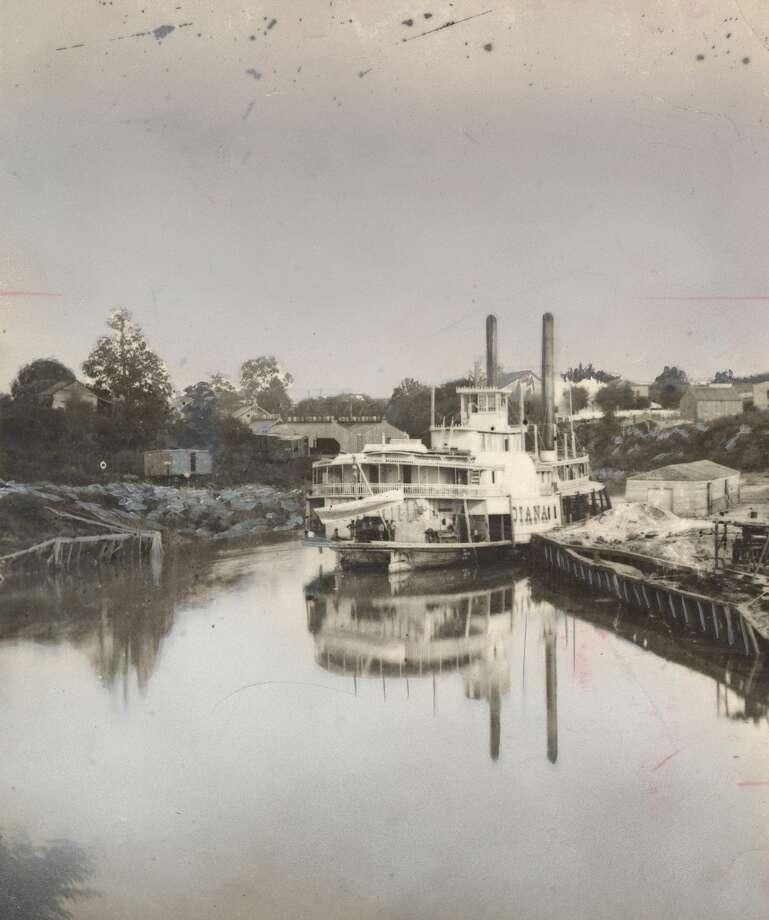 1876: Steamboat Diana docked at Allen's Landing, Houston Ship Channel Photo: Eidson Studio/Houston Chronicle Files