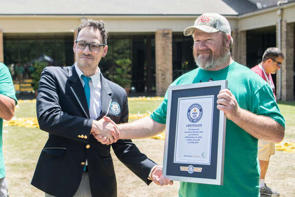IES Residential receives Guinness World Records title for for longest extension cord. (Courtesy of IES)