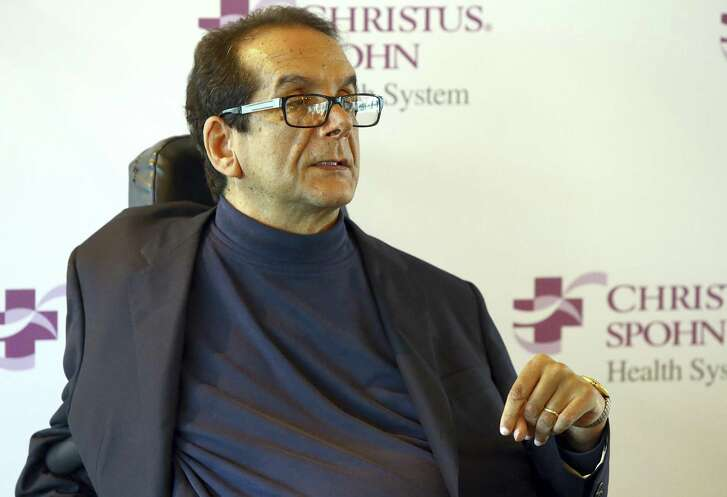 Charles Krauthammer talks about getting into politics during a news conference in Corpus Christi March 31, 2015 The Fox News contributor and syndicated columnist says he has only a few weeks to live because of an aggressive form of cancer.