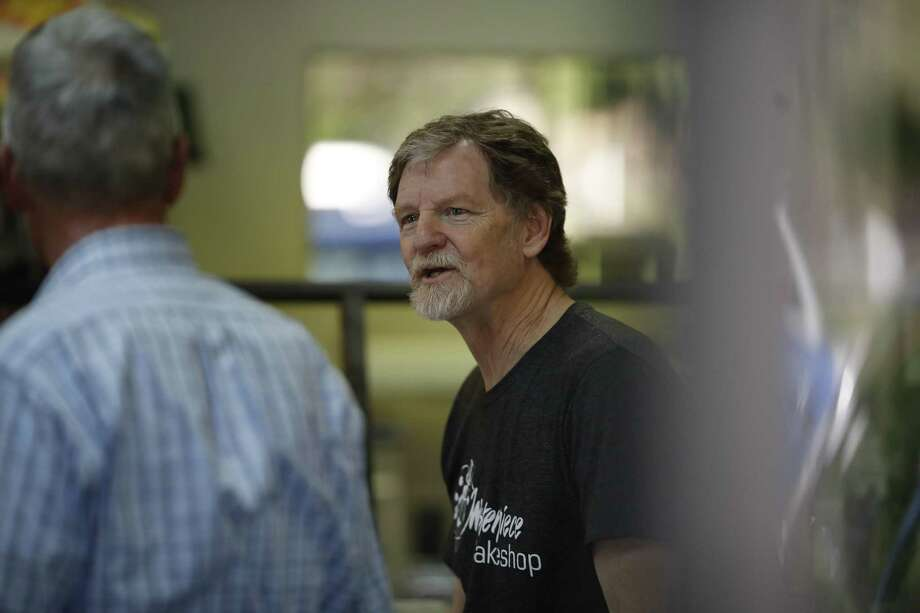 Baker Jack Phillips, owner of Masterpiece Cakeshop in Lakewood, Colo., manages his shop June 4 after the U.S. Supreme Court ruled that he could refuse to make a wedding cake for a same-sex couple because of his religious beliefs did not violate Colorado's anti-discrimination law. Photo: David Zalubowski /Associated Press / Copyright 2018 The Associated Press. All rights reserved.