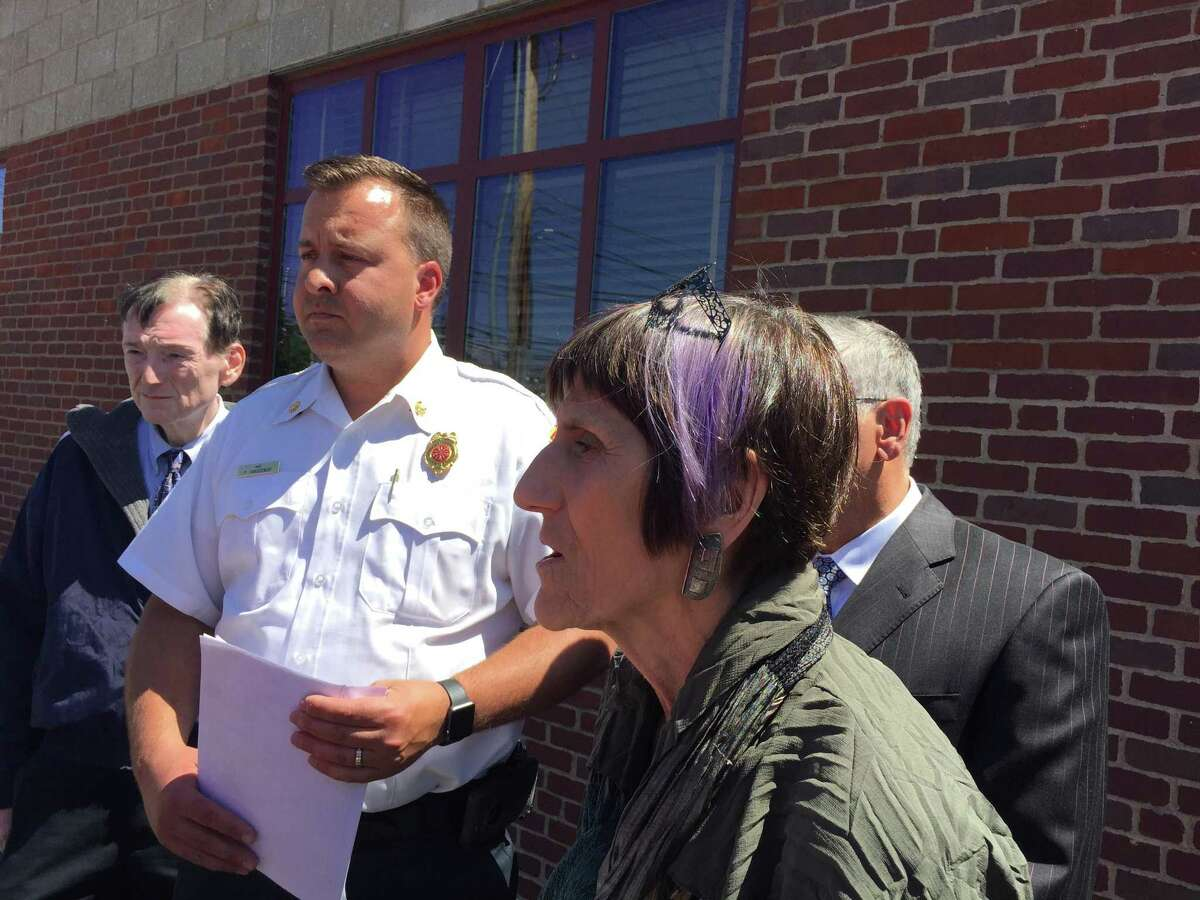 U.S. Rep. Rosa DeLauro, D-3, speaks in North Haven Monday as FEMA begins assessing the damage caused by the May tornado.