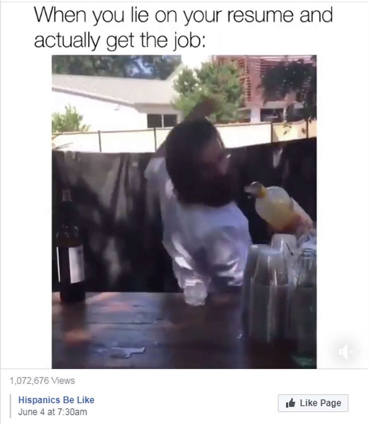 The video of JT Kelley trying his best to look like he knows what he's doing behind the bar of his friend's wedding -- and failing spectacularly -- has racked up more than 55,000 retweets and more than 205,000 likes. It's even become a video meme that has over 1 million views.