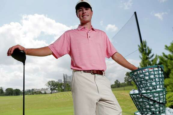 Cole Hammer of Kinkaid, the All Greater Houston male golfer of the year, at the River Oaks Country Club in Houston, TX Tuesday, May 31, 2018. (Michael Wyke / For the  Chronicle)