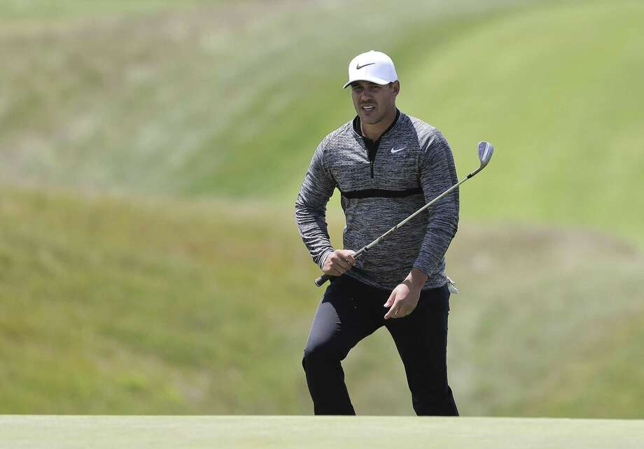 Brooks Koepka, the reigning champ, walks up to the ninth green during a practice round for the U.S. Open on Monday in Southampton, N.Y. (AP Photo/Julie Jacobson) Photo: Julie Jacobson / Associated Press / Copyright 2018 The Associated Press. All rights reserved.