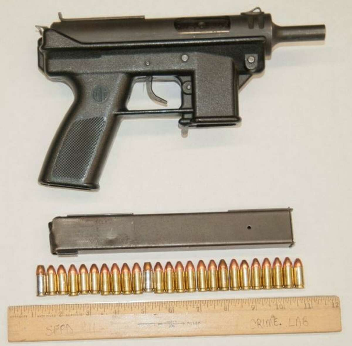 San Francisco police said Oliver Barcenas carried this Tec-9 assault pistol when he turned toward plain clothes officers in 2012 in San Francisco's Mission District.