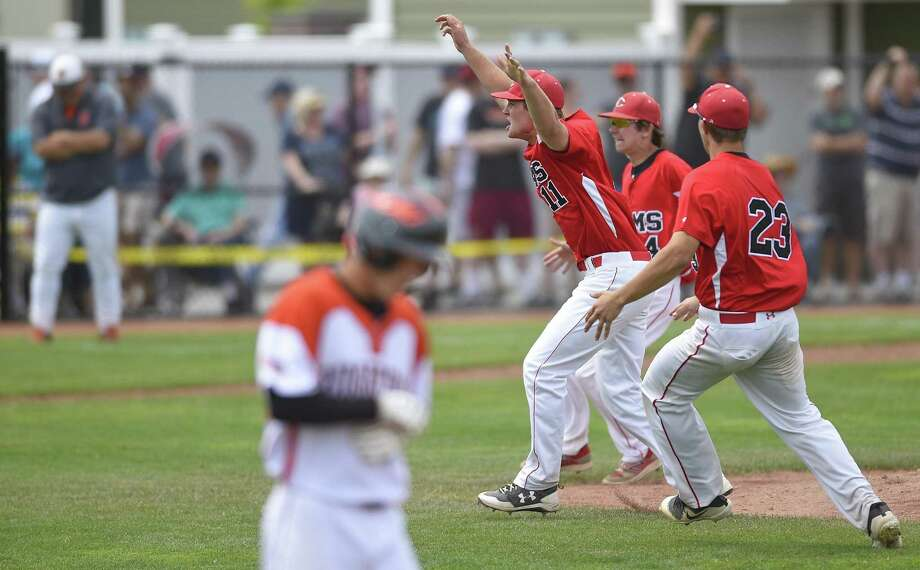 Cheshire's win over Ridgefield in the Class LL championship game, gives the SCC bragging rights as the state's top baseball conference for 2018. Photo: Matthew Brown / Hearst Connecticut Media / Stamford Advocate