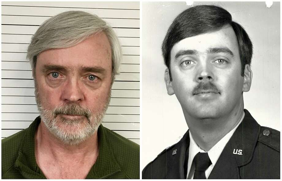 This combination of photos provided by the U.S. Air Force Office of Special Investigations shows Tim O'Beirne (left), after his arrest in June 2018. William Howard Hughes Jr. (right), disappeared 35 years ago when he was a captain for the U.S. Air Force. (U.S. Air Force Office of Special Investigations via AP) Photo: / Associated Press
