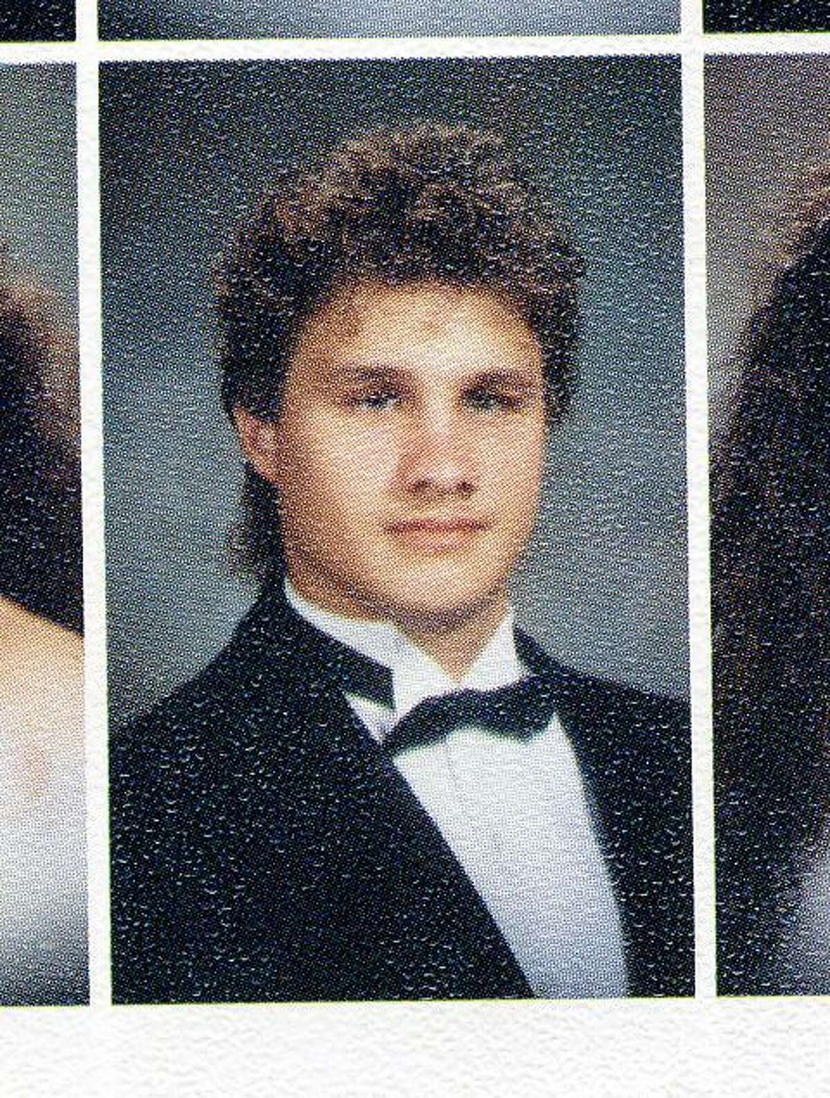 Edgar Valdez Villarreal, 44, is shown in a yearbook photo when he was a senior at United High School.