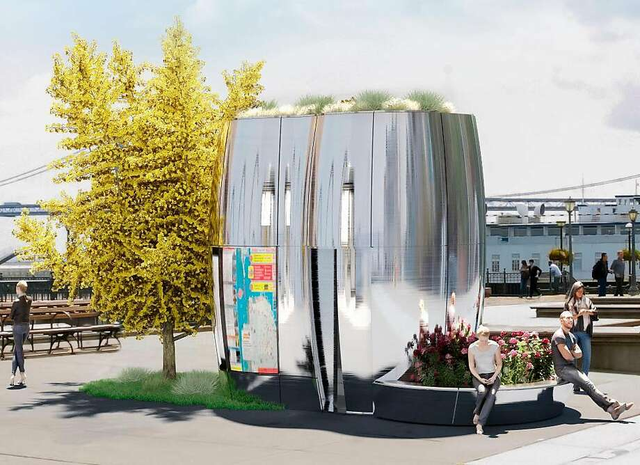 The new concept consists of a simple tube with curved walls and a flat top that could hold plants. Photo: SmithGroupJJR