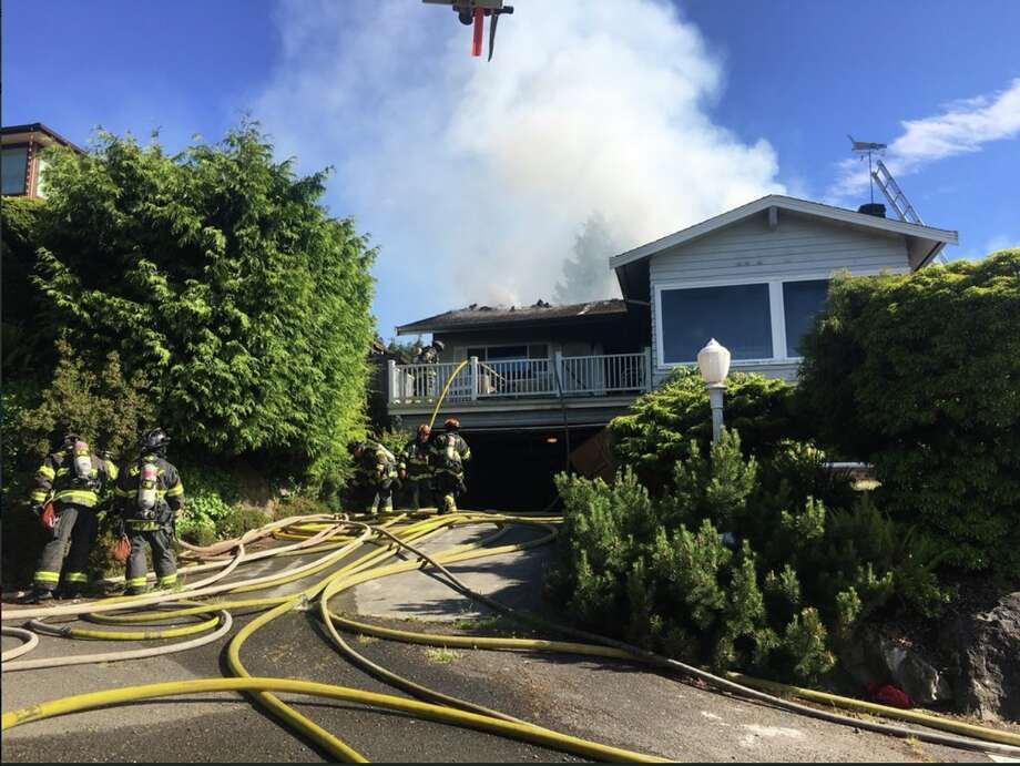 One person has died after a house fire at 2100 Blk. of NW 96th St, Seattle fire officials said. Photo: Seattle Fire Department