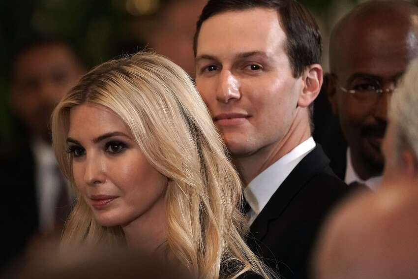 WASHINGTON, DC - MAY 18: Senior adviser and daughter Ivanka Trump (L), and senior adviser and son-in-law Jared Kushner (R) attend a summit at the East Room of the White House May 18, 2018 in Washington, DC.