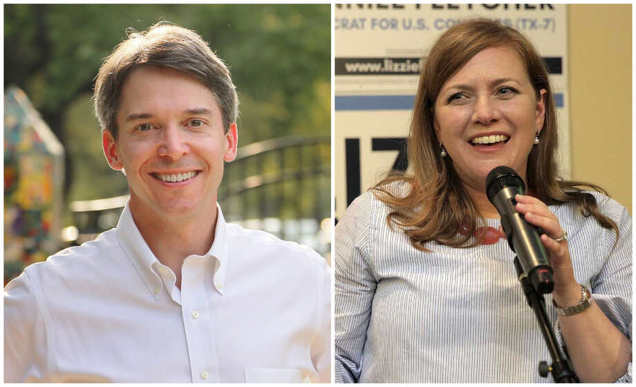 Todd Litton and Lizzie Pannill Fletcher, Democratic candidates for Congress.  Photo: Contributed Photo / Chronicle Photo