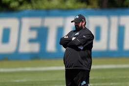 Detroit Lions head coach Matt Patricia watches during an NFL football practice in Allen Park, Mich., Monday, June 11, 2018. (AP Photo/Paul Sancya)