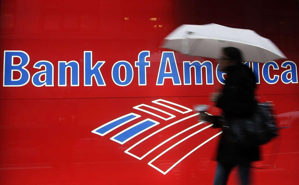 A Bank of America branch in New York in December 2012.