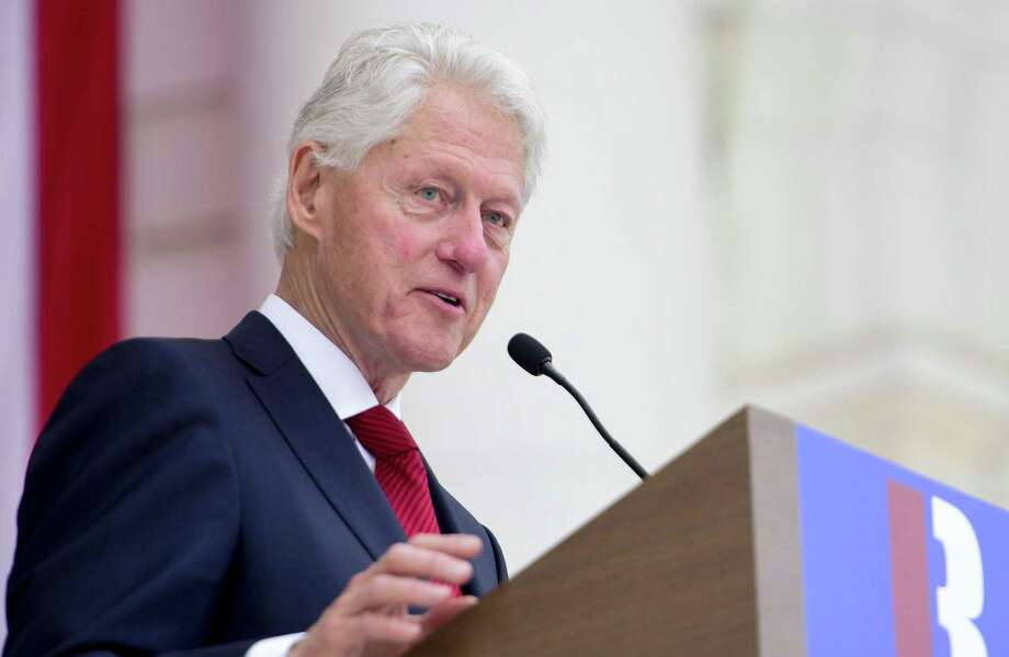 Former President Bill Clinton speaks last week at a remembrance of Robert F. Kennedy at Arlington National Cemetery.  (Photo by Leigh Vogel/Getty Images for RFK Human Rights ) Photo: Leigh Vogel /Getty Images For RFK Human Right / 2018 Getty Images