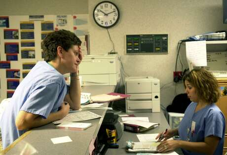 Nurses are shown on duty at the   Metropolitan Methodist Hospital in this 2003 photo.