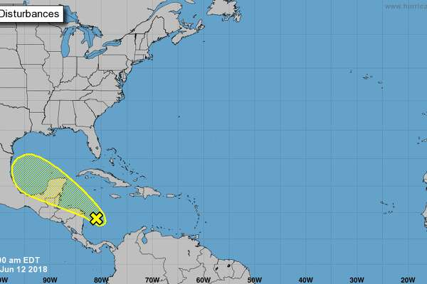 Chances of a tropical cyclone forming are low over the next five days, at 20 percent. Regardless of formation, the disturbance is expected to bring rain to southeast Texas this weekend.