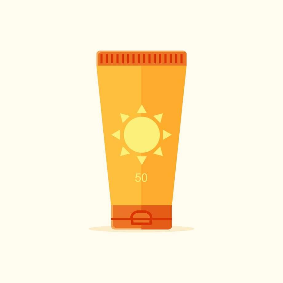 Bottle of Suntan Lotion. Flat Design Style. Photo: Bubble86 / Getty Images/iStockphoto / This content is subject to copyright.