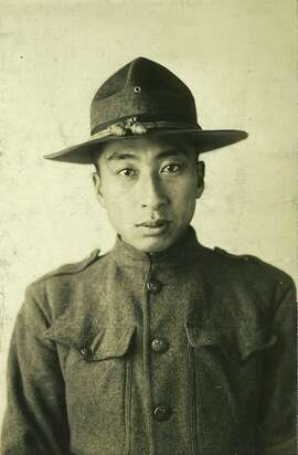 Kaitaro Tsukamoto as a soldier in World War I, 1917.