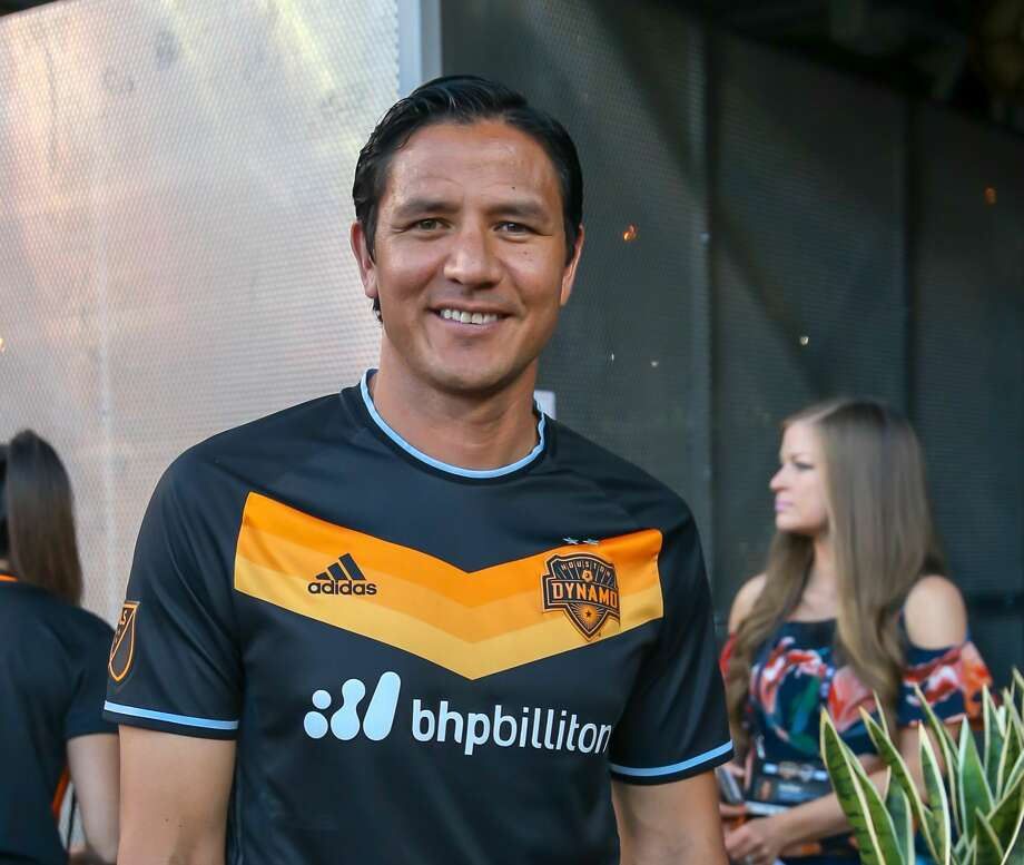 May 5, 2018:  Former Houston Dynamo player Brian Ching visits with fans during the MLS soccer match between the LA Galaxy and Houston Dynamo at BBVA Compass Stadium in Houston, Texas.  (Leslie Plaza Johnson/Freelance Photo: Leslie Plaza Johnson/For The Chronicle