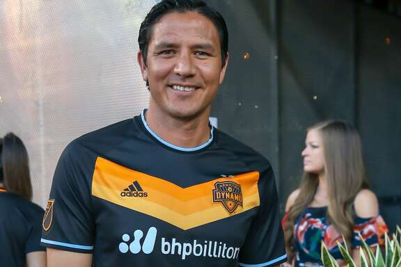 May 5, 2018:  Former Houston Dynamo player Brian Ching visits with fans during the MLS soccer match between the LA Galaxy and Houston Dynamo at BBVA Compass Stadium in Houston, Texas.  (Leslie Plaza Johnson/Freelance