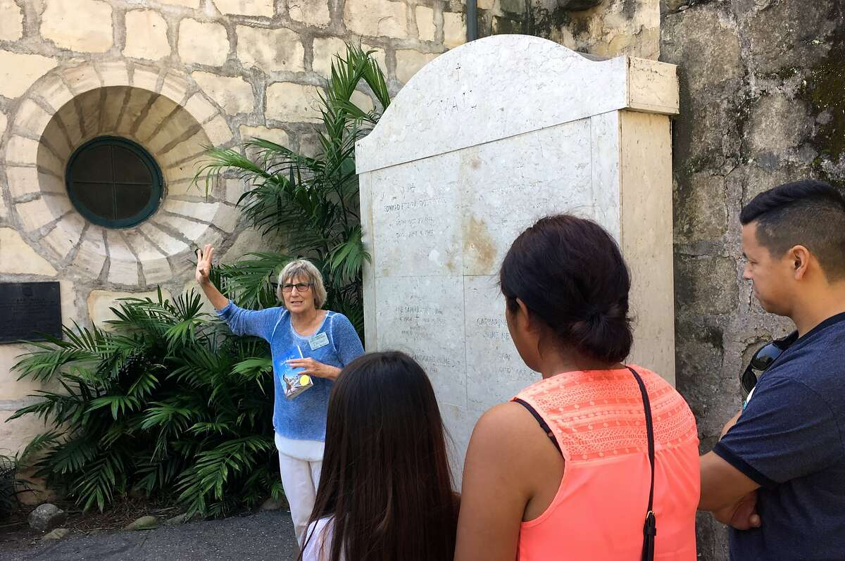 Mission Santa Barbara�s guided tours point out the memorial plaque for Juana Maria, the inspiration for Scott O�Dell�s �Island of the Blue Dolphins.�