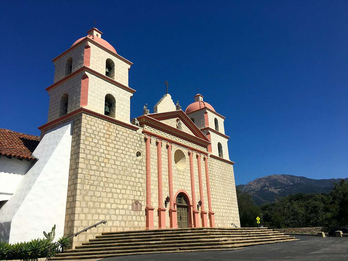 Chumash laborers and craftsmen helped erect Mission Santa Barbara, whose current towers were rebuilt after a 1925 earthquake.