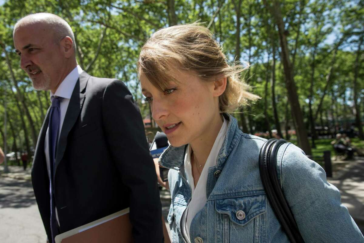 NEW YORK, NY - JUNE 12: Actress Allison Mack arrives at the U.S. District Court for the Eastern District of New York for a status conference, June 12, 2018 in the Brooklyn borough of New York City. Mack was charged in April with sex trafficking for her involvement with a self-help organization for women that forced members into sexual acts with their leader. The group, called Nxivm, was led by founder Keith Raniere, who was arrested in March on sex-trafficking charges.