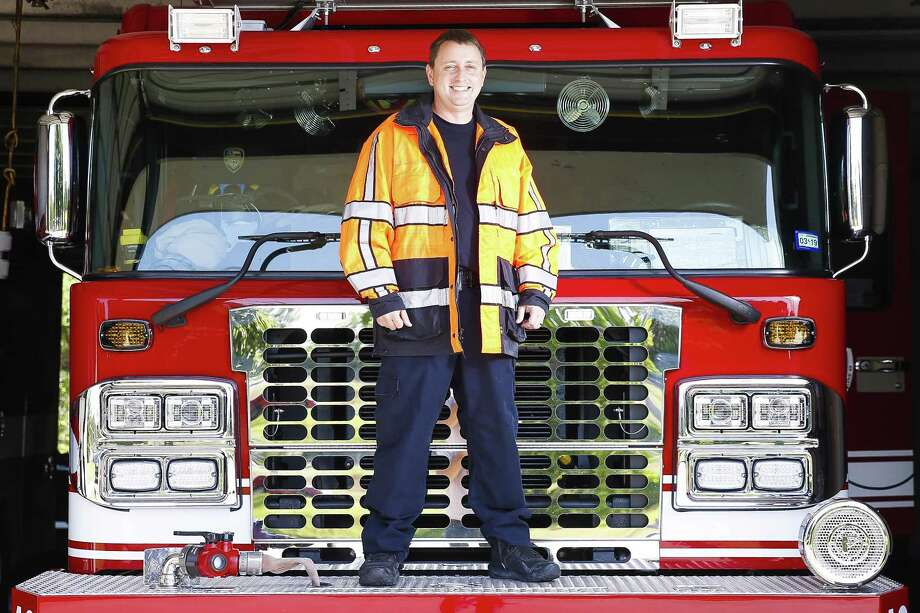 Houston Fire Department Capt. Michael Bingham worked 136 hours straight at his fire station during the hurricane. Photo: Michael Ciaglo, Houston Chronicle / Houston Chronicle / Michael Ciaglo