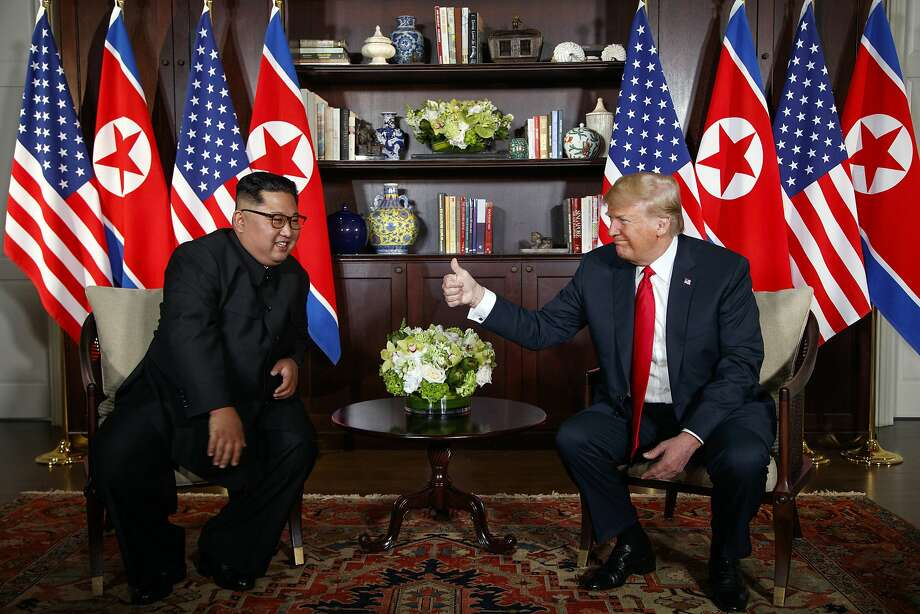 The document President Trump signed with North Korean leader Kim Jong Un seems to amount mostly to a restatement of long-assumed principles and an agreement to keep talking. Photo: Evan Vucci / Associated Press