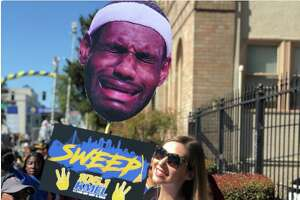 The best signs from the Warriors parade on June 12, 2018.