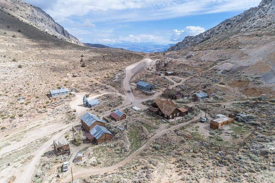 The 19th-century mining town of Cerro Gordo and the surrounding 300 acres outside Lone Pine, Calif., is listed for $925,000. Photo: Nolan Nitschke