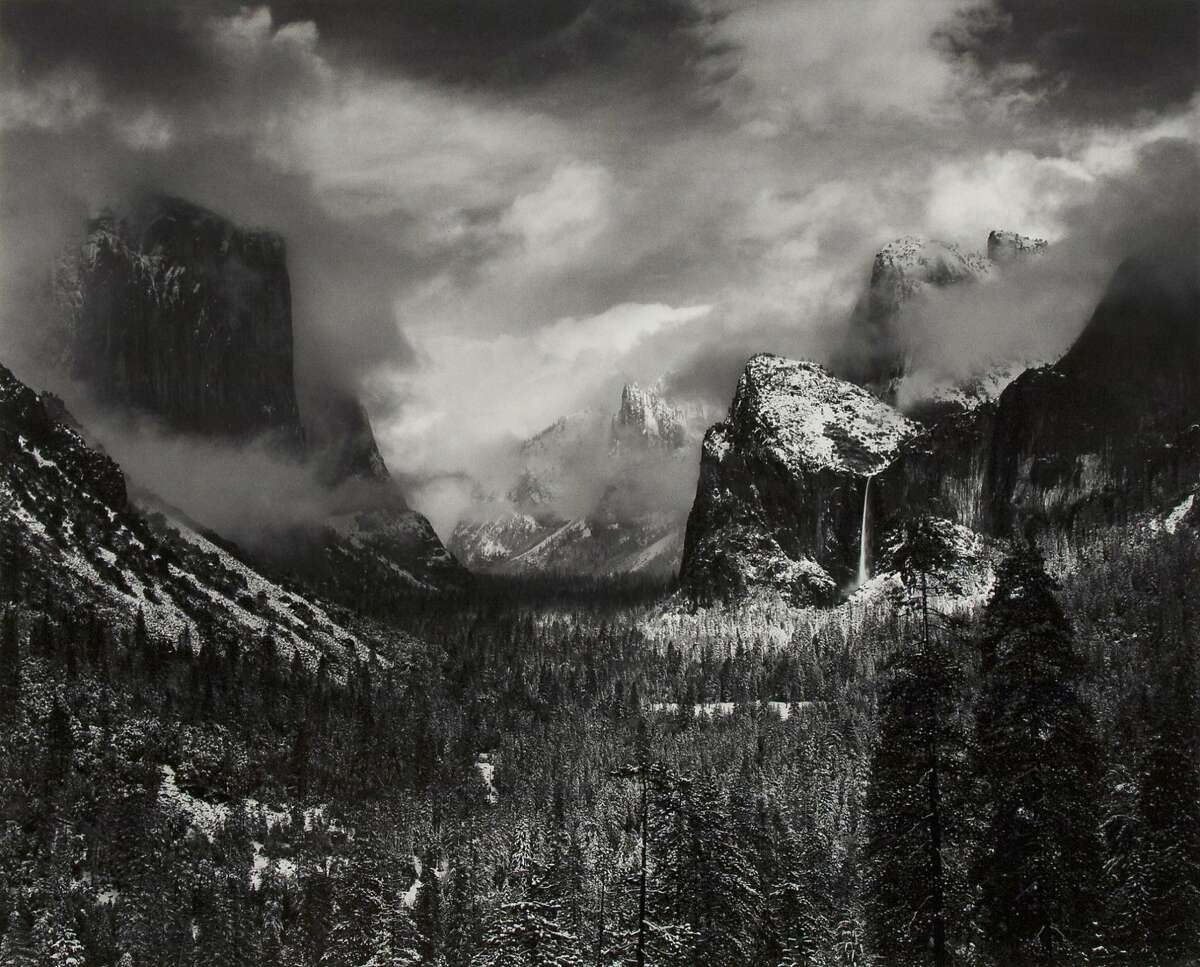"""""""Clearing Winter Storm, Yosemite National Park"""" by Ansel Adams sold for $327,600 at auction Monday."""