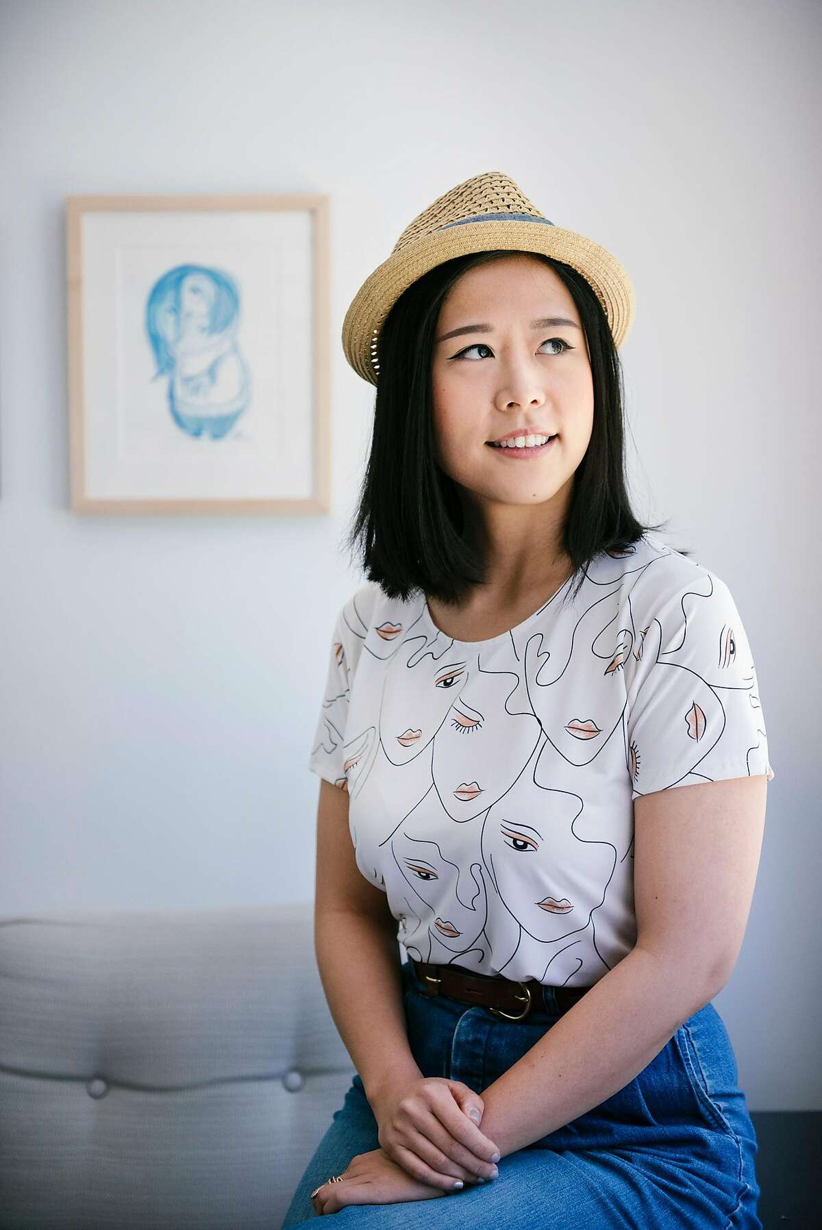 """Storyboard artist Domee Shi, who created Pixar�s new short, �Bao,� which is running in theaters before �Incredibles 2"""", poses for a portrait at Pixar Animation Studios in Emeryville, CA, on Monday June 4, 2018."""