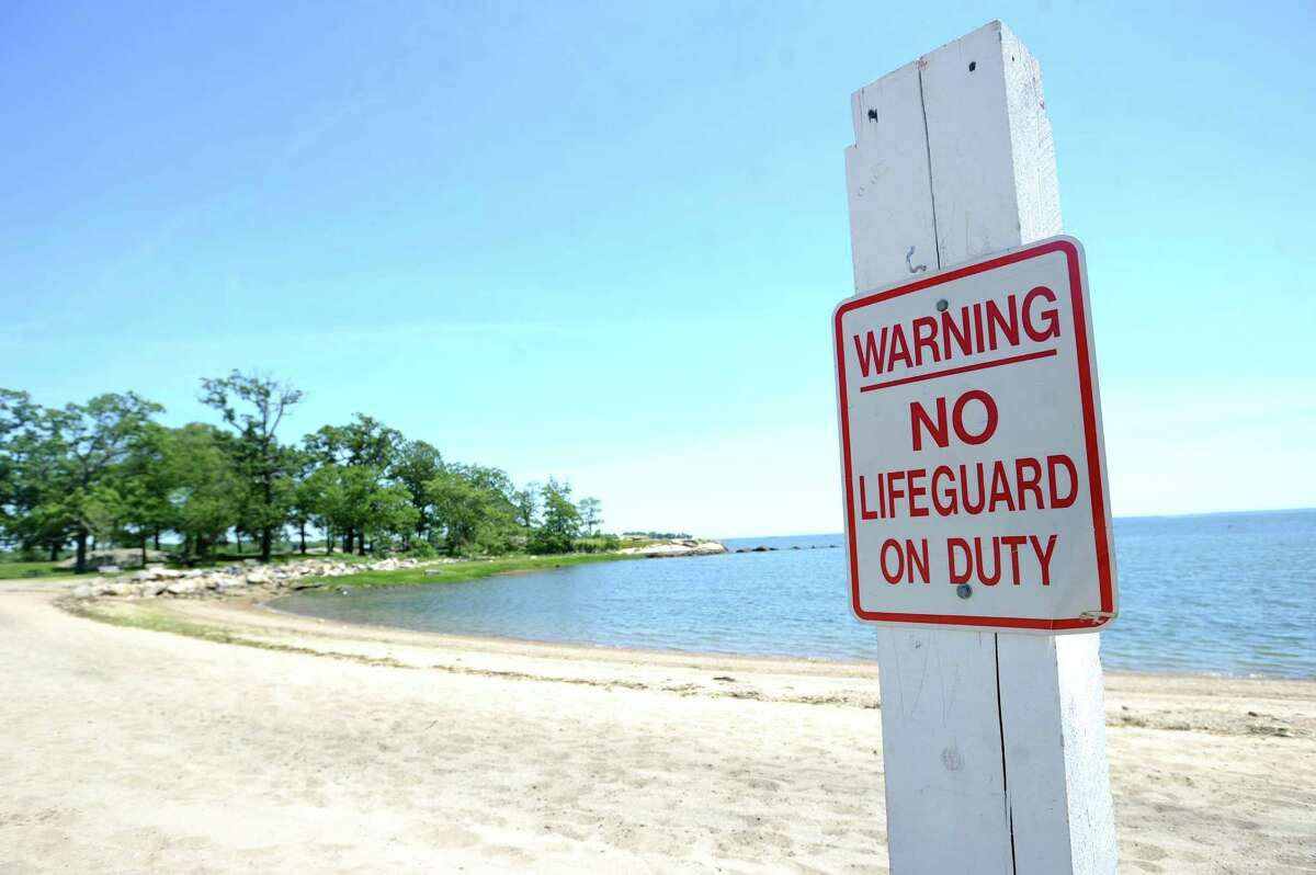 Lifeguards will not be present at Cove Island's Quigley Beach this summer because of budget cuts. Photographed at Quigley Beach in Stamford, Conn. on Tuesday, June 12, 2018.