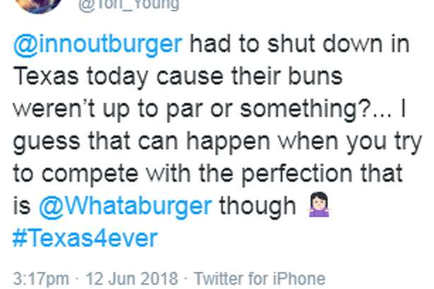 Whataburger fans and supporters took to the Internet after In-N-out announced closures in Texas due to bun quality.