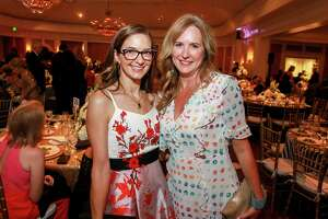 Kate Bialas, left, and Tina Governale at the Leukemia & Lymphoma Society's Man Woman of the Year gala at River Oaks Country Club.
