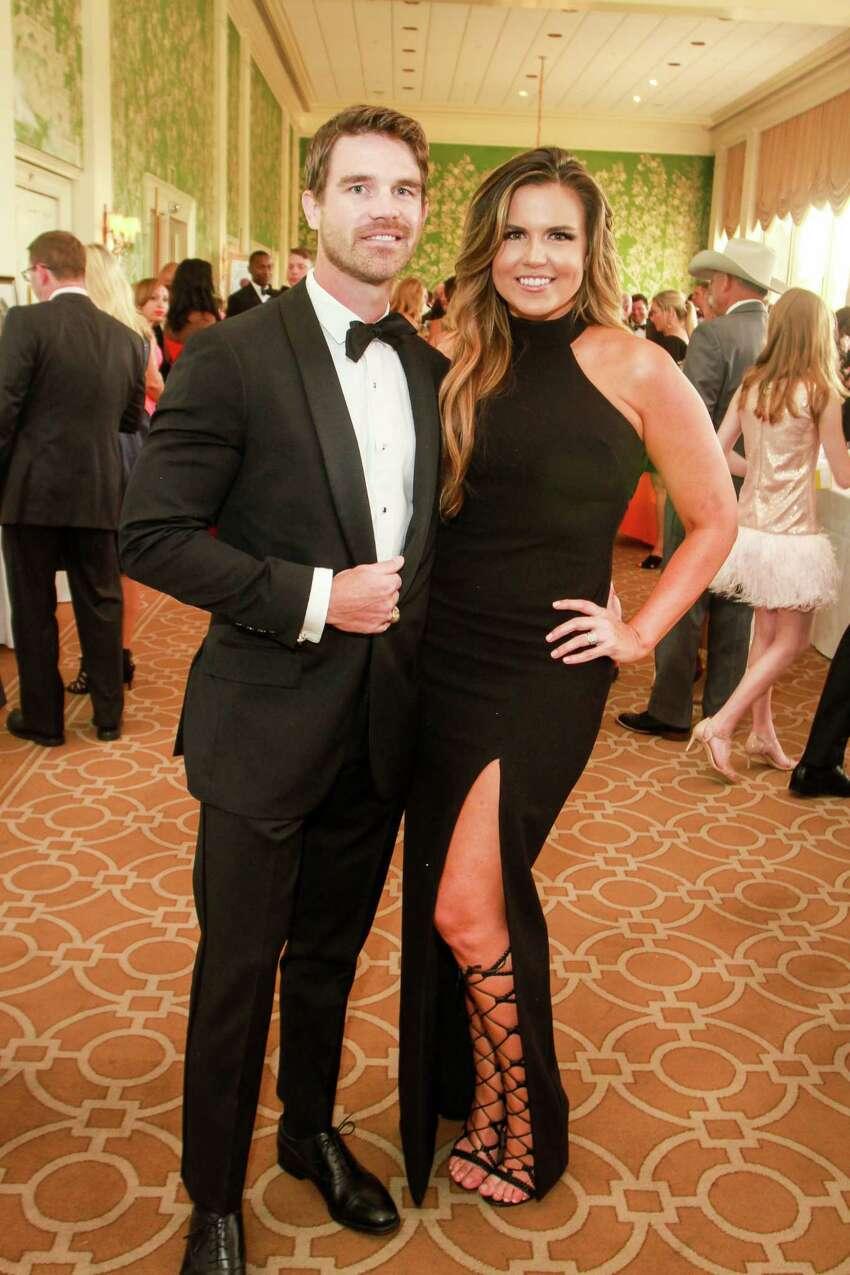 Neal and Jordan Simpson at Leukemia & Lymphoma Society's Man Woman of the Year gala at River Oaks Country Club.