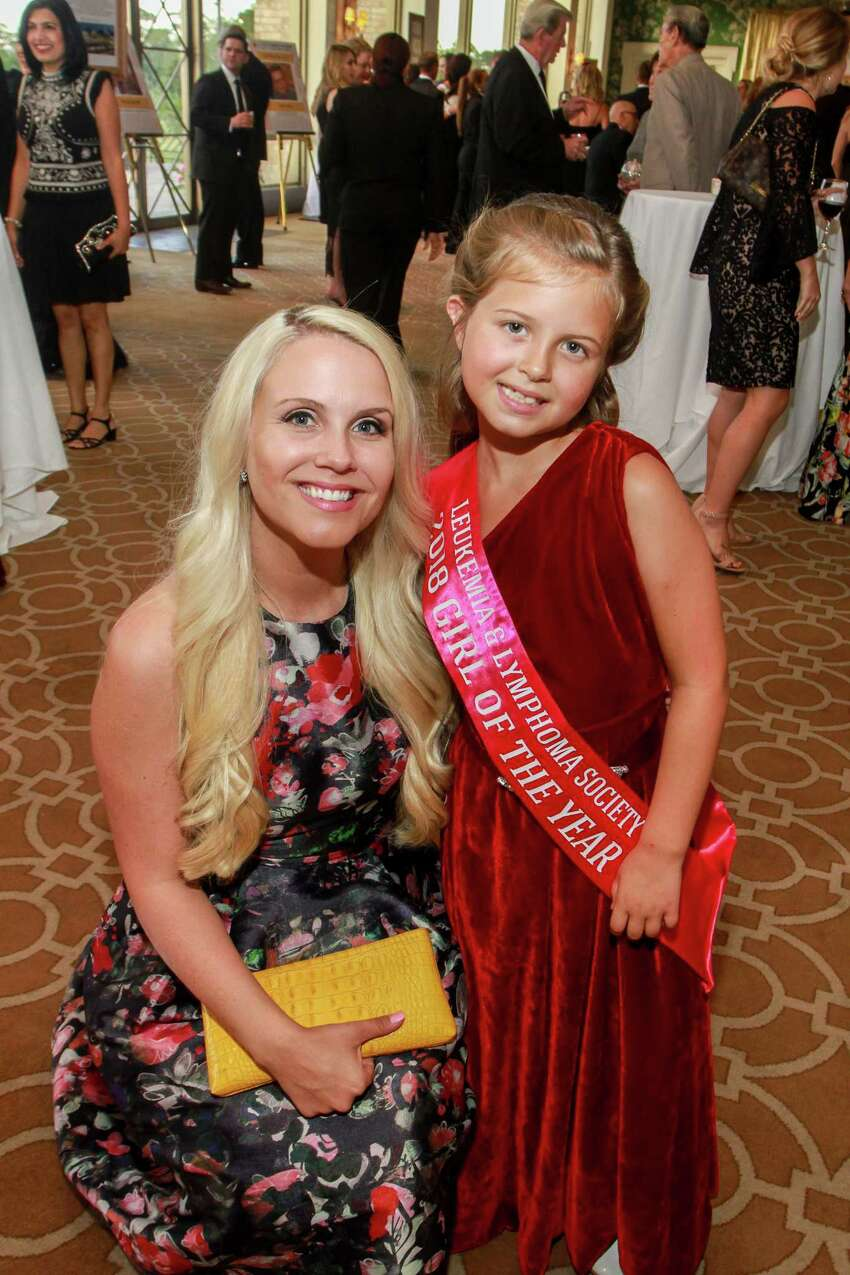 Stephanie Carroll with her daughter Drew, at Leukemia & Lymphoma Society's Man Woman of the Year gala at River Oaks Country Club. Drew is Girl of the Year.