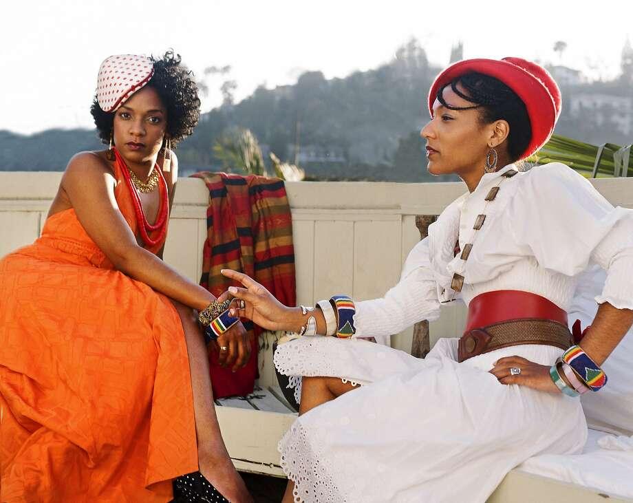 Les Nubians, sisters Hélène and Célia Faussart, blend many styles. Photo: Peter Graham
