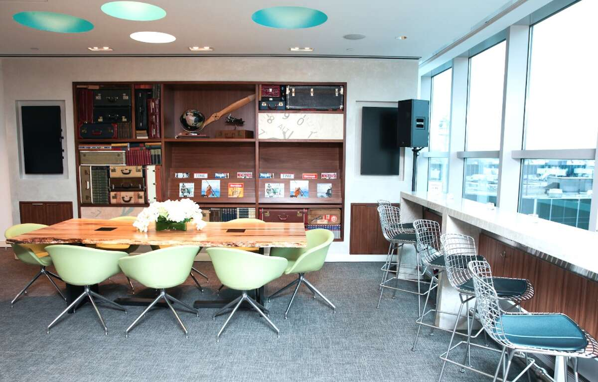 A key benefit of the American Express Platinum card is access to Centurion Lounges like this one at New York-La Guardia