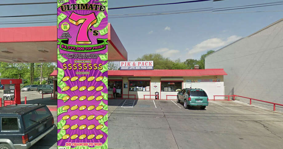 A San Antonian won more than $4.7 million in the scratch ticket game Ultimate 7s. Photo: Courtesy Texas Lottery/ Google Maps