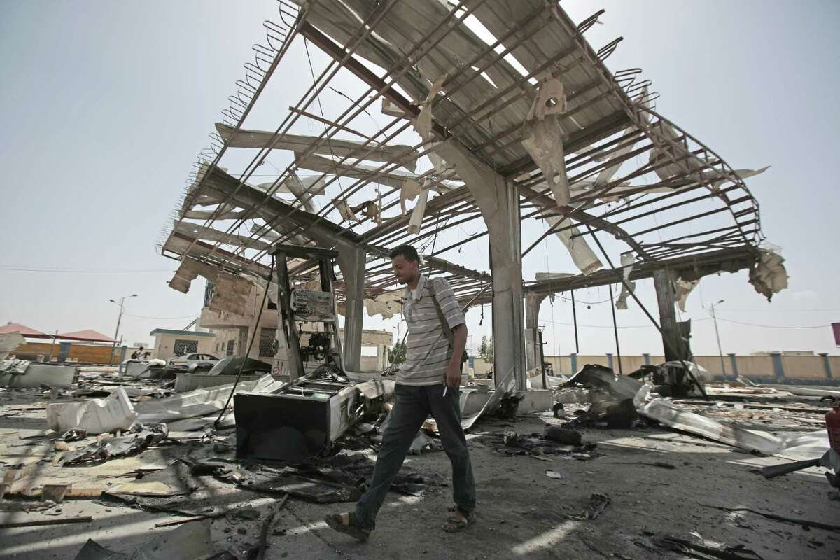 A reader suggests that if war-ravaged Yemen developed nukes it would get more help and attention from the United States. A Yemeni man walks on the rubble of a petrol station after it was hit by Saudi-led airstrikes in Sanaa, Yemen May 27, 2018.
