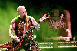 Guitarist Kerry King of the band Slayer performs onstage during the band's final world tour.