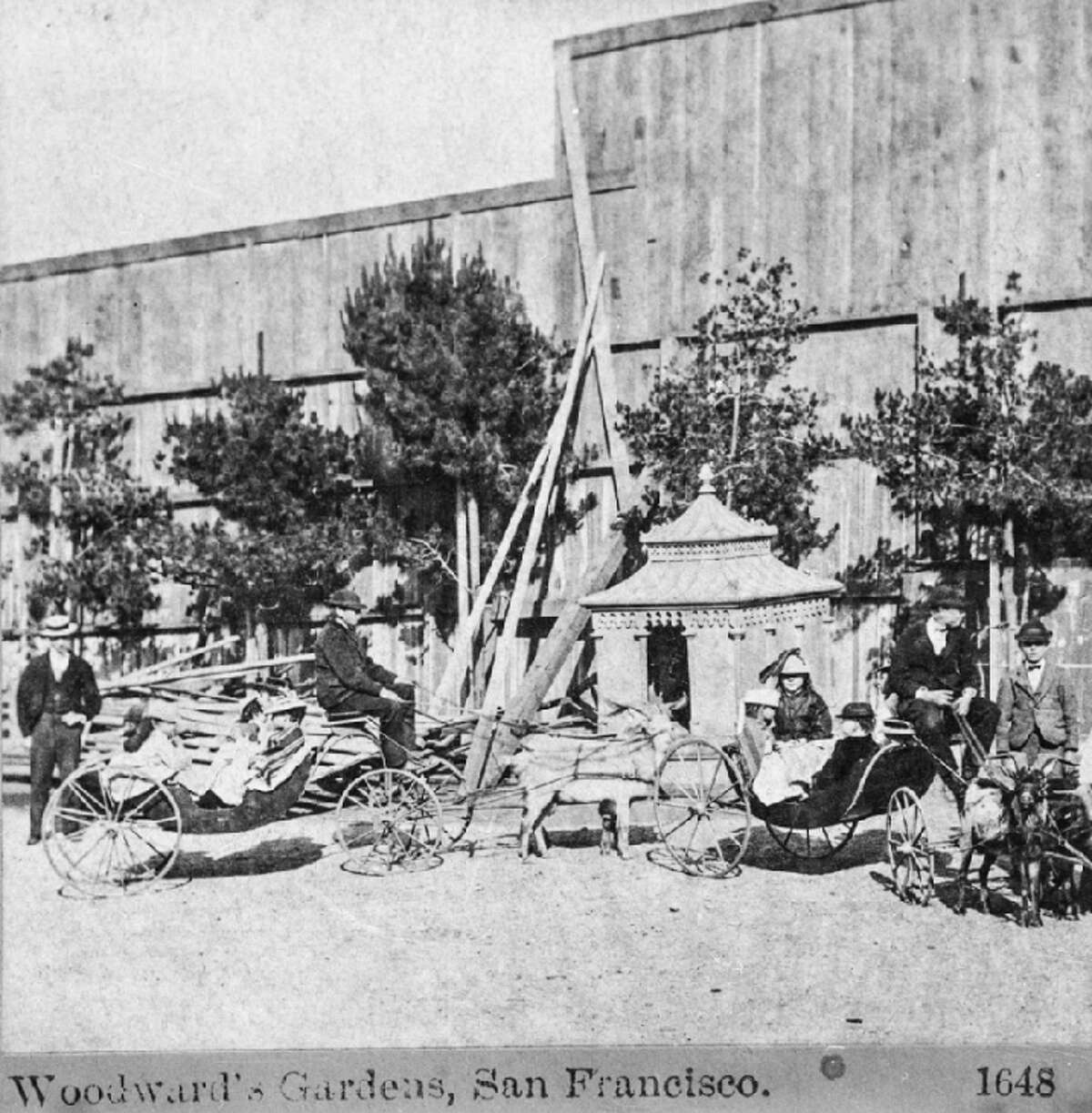 Valencia and 15th Streets A scene from Woodward's Gardens, an amusement park, zoo and museum that operated in the Mission District between 1866 and 1891.