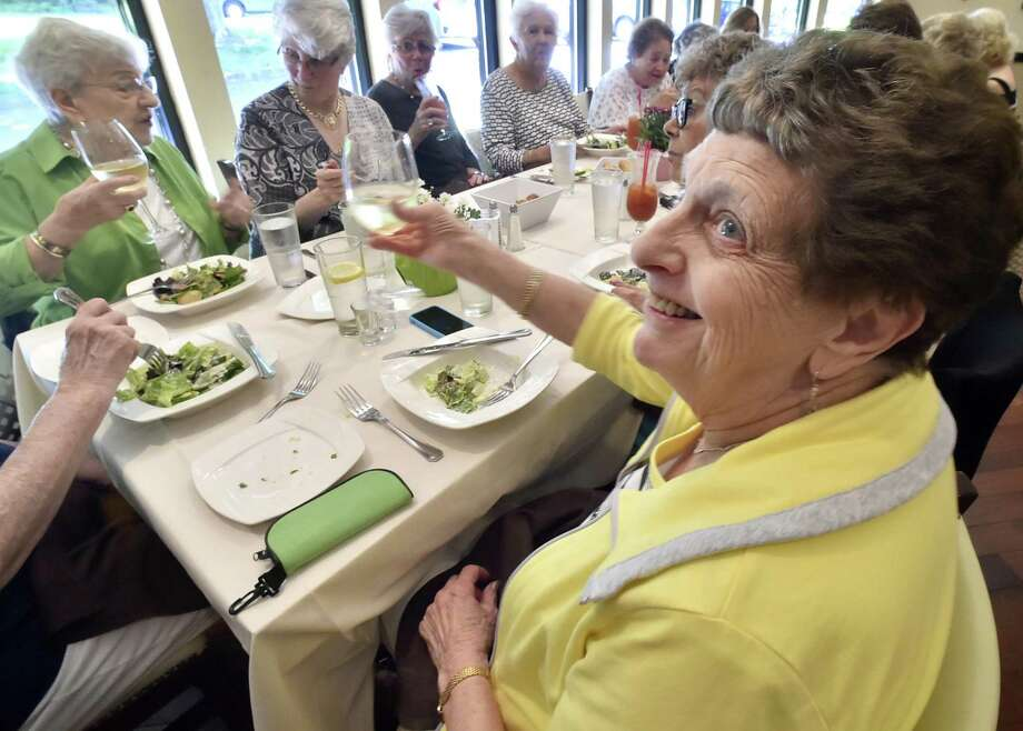 Harriet Ciaburro Barone of Mariden, 82, a graduate of the Sacred Heart Academy class of 1953, during a reunion luncheon Tuesday at Cafe Fiore in Branford. Photo: Peter Hvizdak / Hearst Connecticut Media / New Haven Register