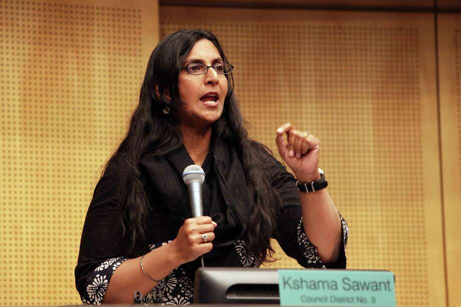 Socialist Seattle City Council incumbent Kshama Sawant has blown off the city's democracy vouchers program, but leads all comers with $76,725 raised.  Photo: GENNA MARTIN, SEATTLEPI.COM / SEATTLEPI.COM